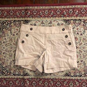 whbm tan side button shorts
